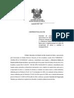 Convênio n 001 Dívida Tributária
