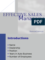 Efective Sales Management