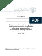 WP3 - Migration Impact Morocco