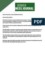 Denver Business Journal Editorial Internship