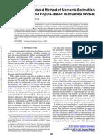 Simulated Method of Moments Estimation for Copula-Based Multivariate Models