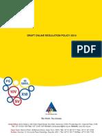 Draft Online Regulation Policy