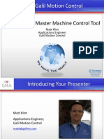 'EtherCAT as a Master Machine Control Tool' Galil Webinar