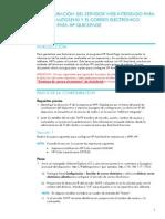 Configuracion de correo electronico en HP M4555