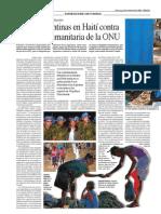 Armas argentinas y brasileñas contra la misión de la ONU en Haití