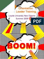 conflict mangagement training, orientation leader training loyno