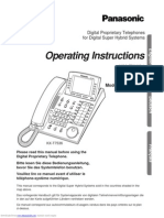 Panasonic Operating Instructions