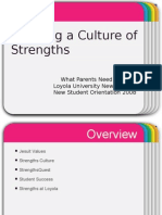 creating a culture of strengths at loyola univ new orleans
