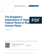 The Budgetary Implications of Higher Federal Reserve Board Interest Rates