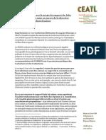 Position Du CEATL Sur Le Rapport Reda