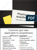Physics and Anesthesia Final Report