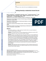 Effect of Exercise Training Intensity on Abdominal Visceral Fat And