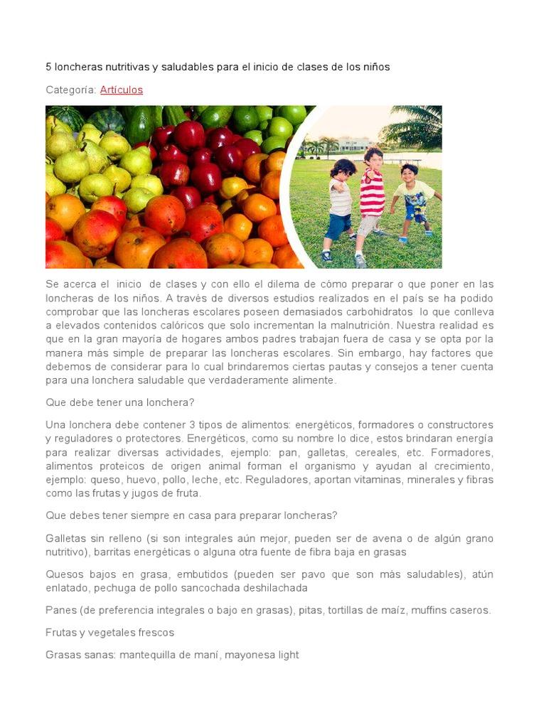 clases de alimentos energeticos constructores y reguladores