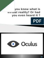 VR - Oculus Rift