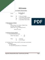 BFD Formulas