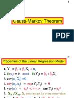 ECONF241 GaussMarkov Theorem