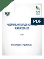 Prezentare PNDR 2014 2020