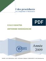 Vahatra Manuel Procedures Admin 2009