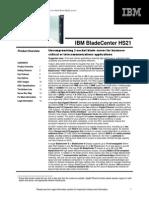 IBM BladeCenter HS21 Blade Server