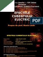 Efect al Curentului Electric