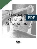 Manual de Gesti n de Subvenciones