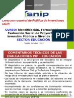 Aspectos Generales SNIP 2012