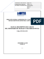 Manual Descriptivo de Cargos Del Mtss Setiembre 2013 (Princ.) Al 21 de Enero de 2014