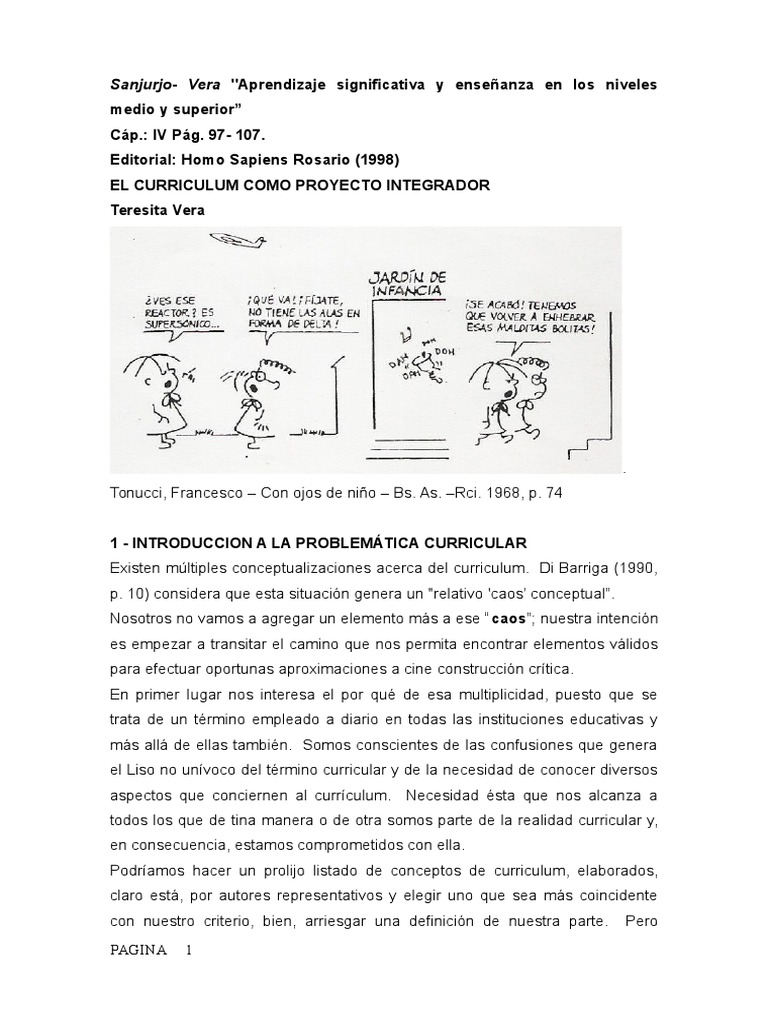 SANJURJO Aprendizaje Significativo y Enseñanza en Los Niveles en Los ...