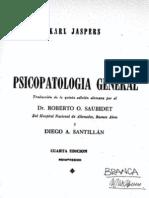 Jaspers Psicopatologia General