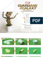 Groot Papercraft Assembly Instructions Lower