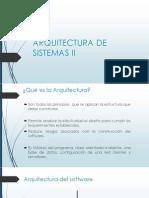 Arquitectura de Sistemas II