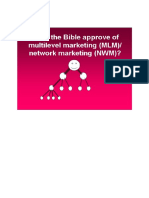 Does the Bible Approve of Multilevel Marketing (MLM)Network Marketing (NWM)
