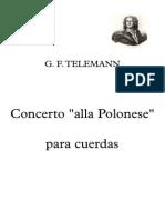 Telemann - Concerto Alla Polonese - Partitura Completa
