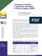 Nouveaux produits de synthèse identifiés en France depuis 2000