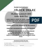shamrockshake flyer