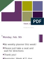week 21-6th