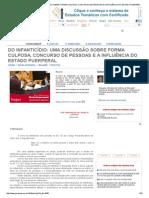 Do Infanticídio_ Uma Discussão Sobre Forma Culposa, Concurso de Pessoas e a Influência Do Estado Puerperal - Giulianna Louise Christofoli - Jurisway