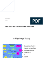 6 Lipid and Protein Metabolism S12 (Lecture 1)