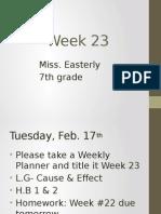 week 23- 7th grade