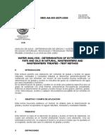 Nmx-Aa-005-Scfi-2000 Determinacion de Grasas y Aceites