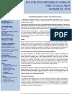 Boletín epidemiológico 3 -2015