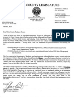 John Parete Letter and Proposed Ulster County Tobacco Law