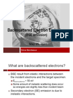 Backscattered Electron Emission