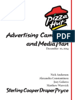 pizza hut media planning campaign