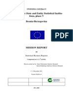 1 1 1 Mission Report Assessment on the Current Situation of the Statistical Business Register