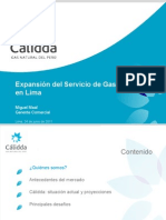 Expansión Del Servicio de Gas Natural en Lima_Junio 2011