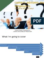 Teachers, careers advisers and employers