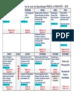 Cronograma de Aulas Do Curso PROEJA No PRONATEC - Versão Final 1