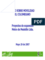 Presentación- Proyectos de Expansión, Metro de Medellín Ltda., 2007