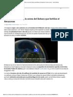 CALIPSO Cuantifica La Arena Del Sahara Que Fertiliza El Amazonas _ Ciencia Curiosa